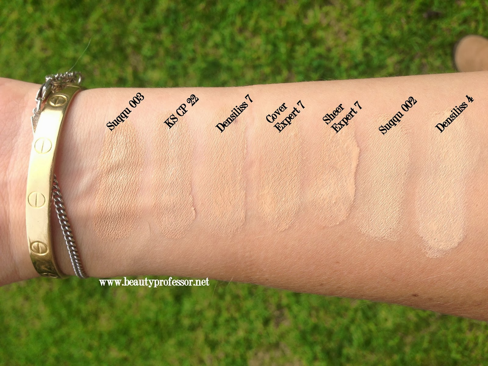 Foundation Swatch Comparisons Suqqu By Terry Kanebo