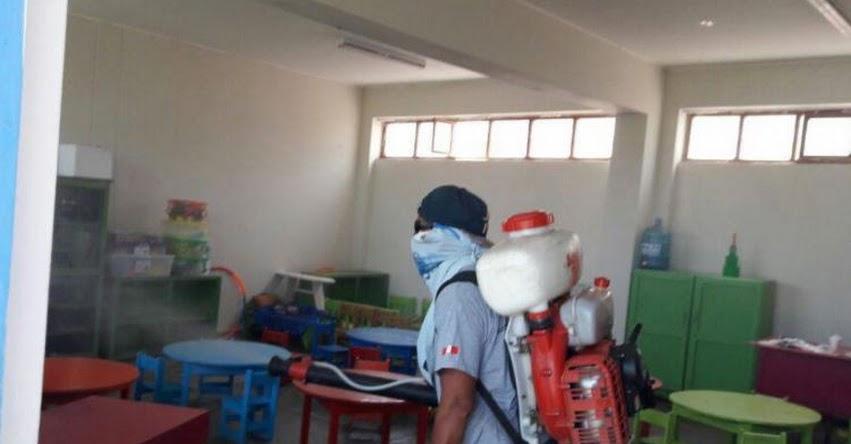 Inician fumigación contra el dengue en colegios de Nuevo Chimbote
