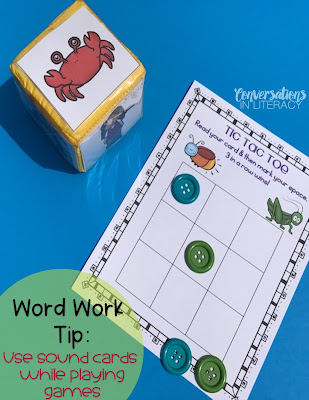Using Differentiation Learning Cubes and Tic Tac Toe Games for Word Work Activities