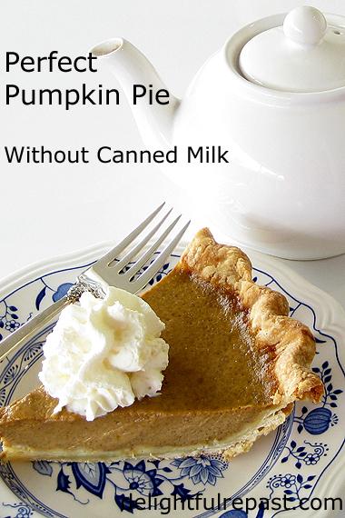 Pumpkin Pie - Gluten-Free or Regular Crust - No Soggy Bottoms / www.delightfulrepast.com