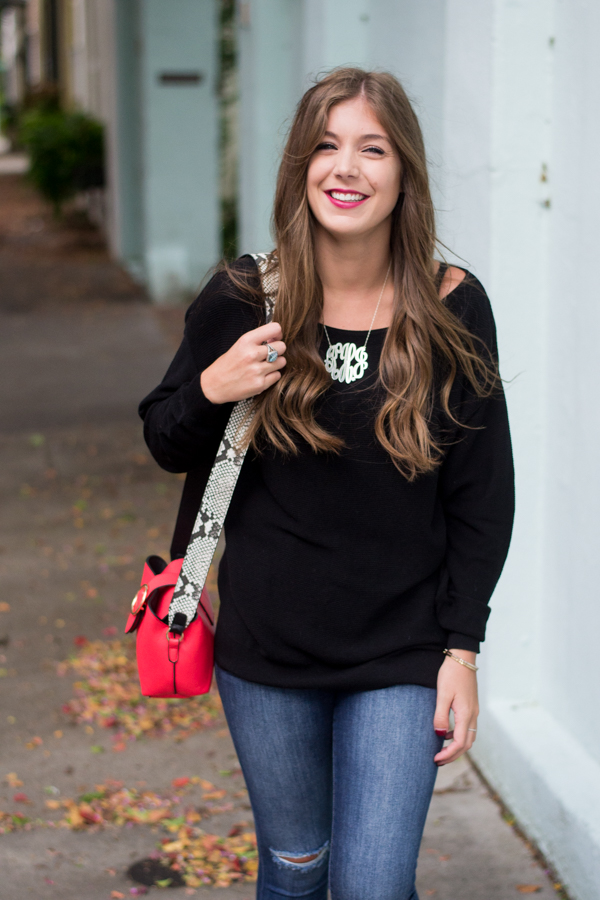 Fall Outfit With Pops of Pattern | Chasing Cinderella