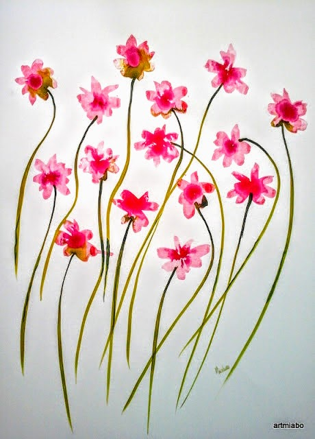 Abstract flower Wall Art by Miabo Enyadike