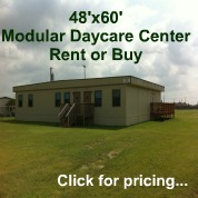 Used modular building, daycare center, and portable classroom prices.