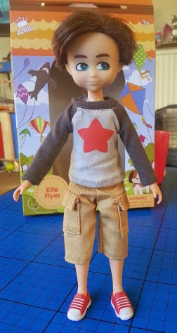 Finn Doll for boys stands up by himself