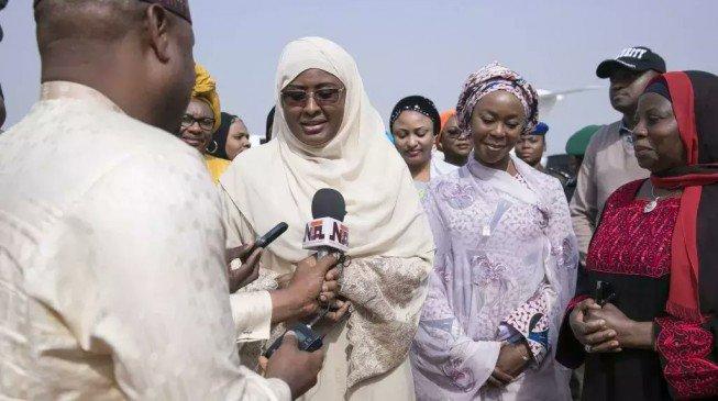 Aisha Buhari arrives as Nigerians eagerly await president's return