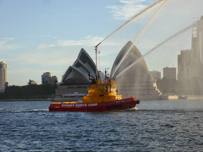Fire Tug Water Display