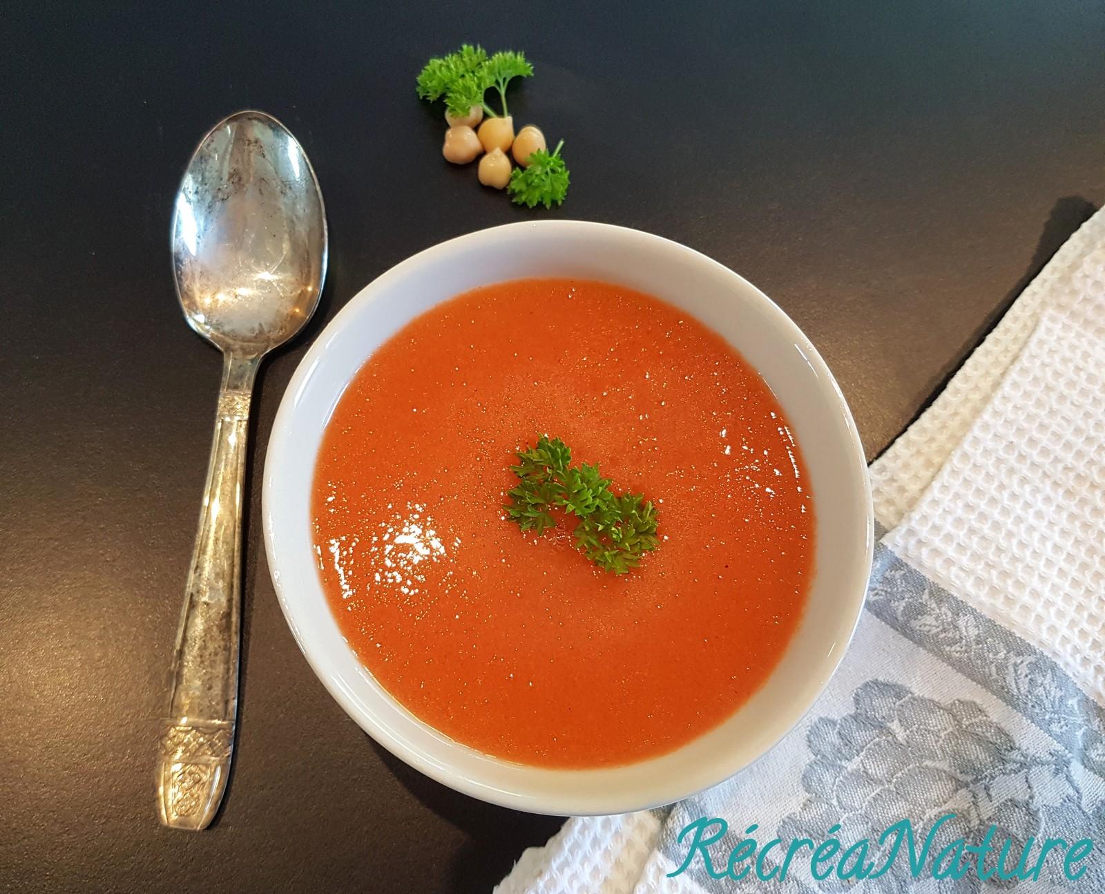 soupe froide carottes tomates et pois chiches cuisine cr e vegan sans gluten. Black Bedroom Furniture Sets. Home Design Ideas