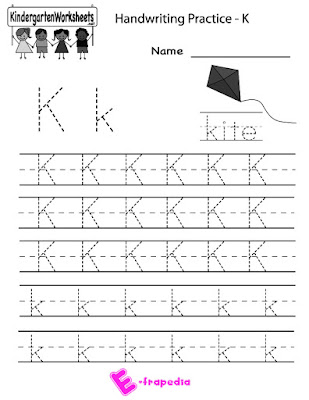 Letter k worksheets kindergarten math worksheet writing practice printable