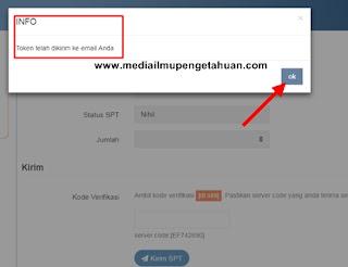 Token-kode verifikasi telah dikirim ke email Anda