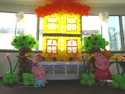 DECORACION PEPPA PIG RECREACIONISTAS MEDELLIN 1