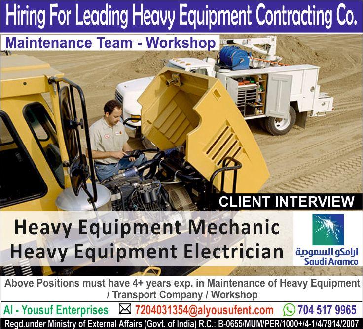 Maintenance team work for saudi Aramco