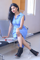 Telugu Actress Mounika UHD Stills in Blue Short Dress at Tik Tak Telugu Movie Audio Launch .COM 0130.JPG