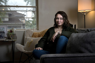 Moriah Smith left the Jehovah's Witnesses faith after elders in the church turned away when she approached them with accusations against another fellow congregation member who had raped her when she was 14 and he was 25.Rajah Bose / for NBC News