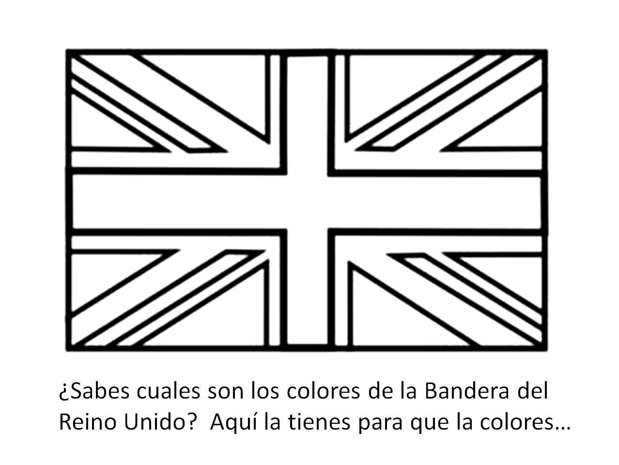 Lujo Bandera Británica Para Colorear Embellecimiento - Dibujos Para ...