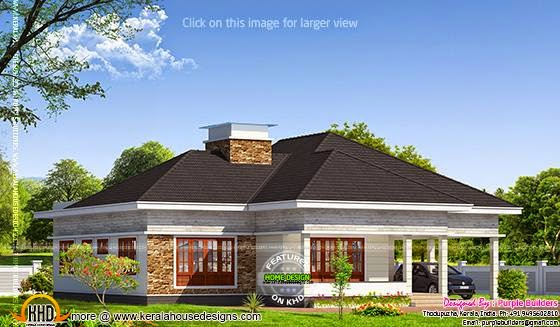 Kerala bungalow elevation kerala home design and floor plans for Bungalow plans and elevations