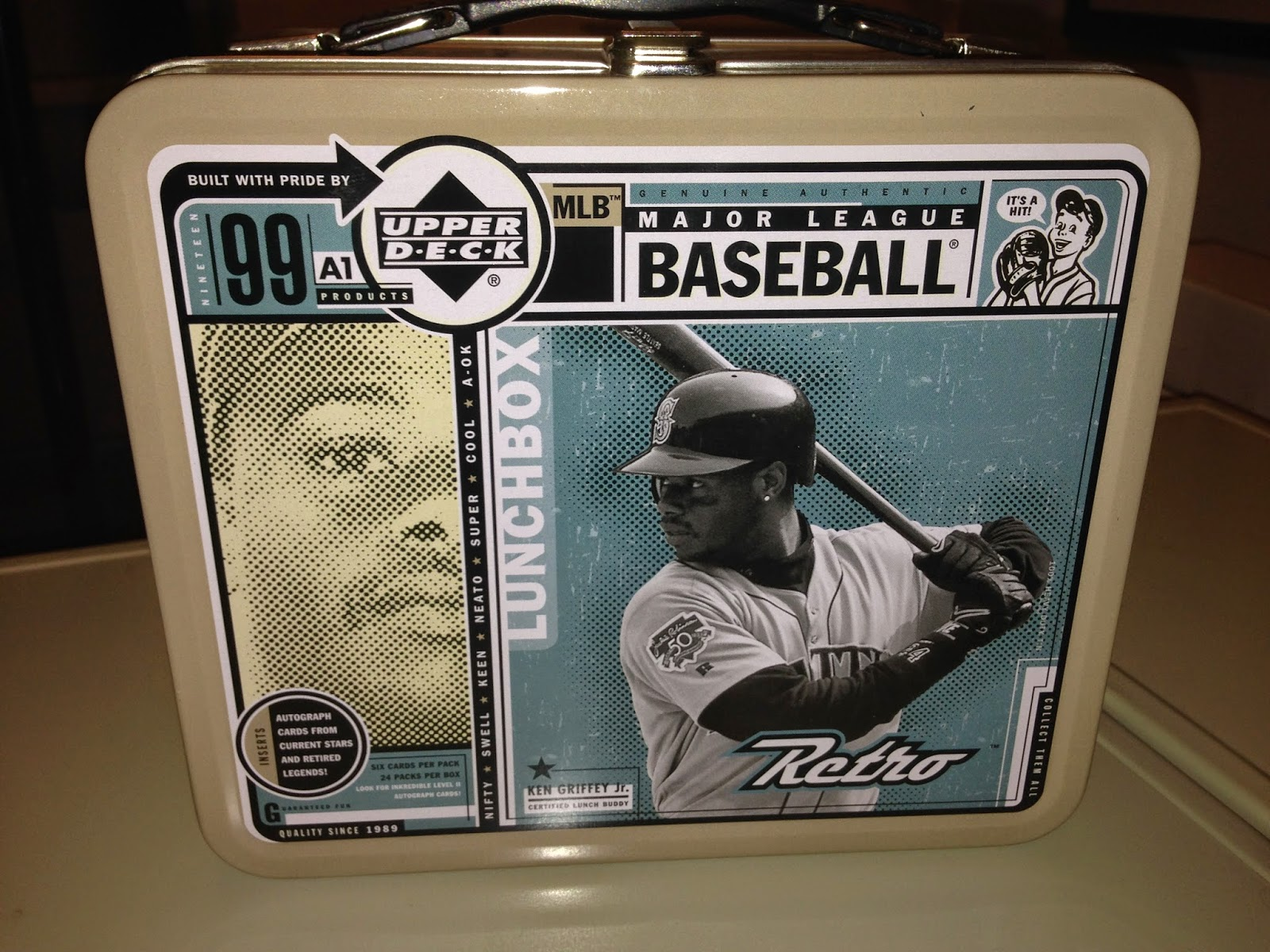f123687e82 1999 Upper Deck Retro was sold in metal lunch boxes. This is a novel idea  that I'm surprised no one else has done. The condition is solid for being  15 years ...