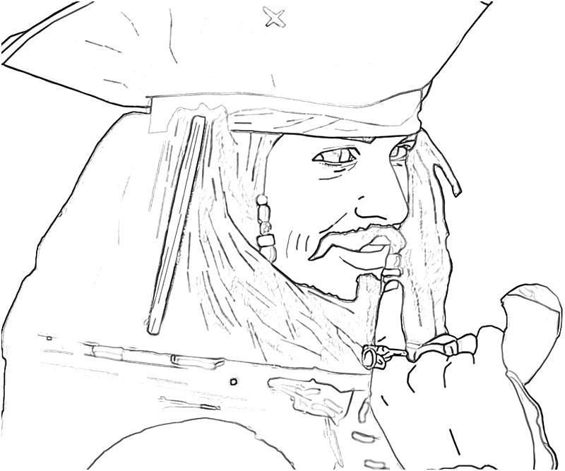 sparrow coloring pages - jack sparrow coloring page