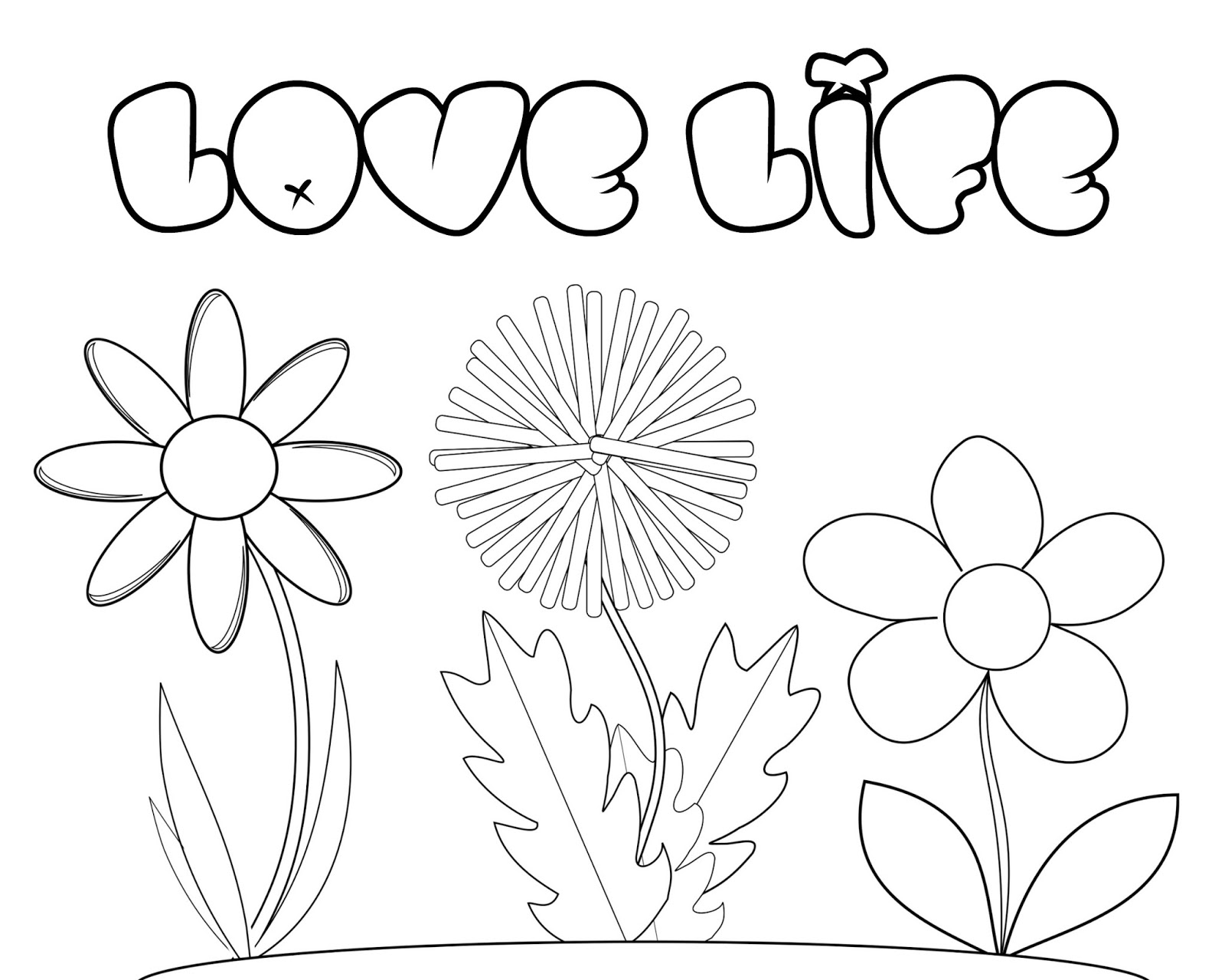 - CJO Photo: Inspirational Coloring Page: Love Life Floral