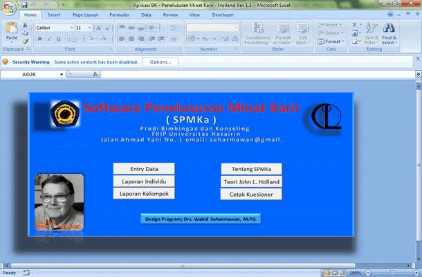 Software Aplikasi BK (Bimbingan Konseling) Penelusuran Minat Karir