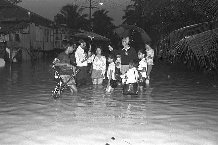 Flood at Geylang in 1974.
