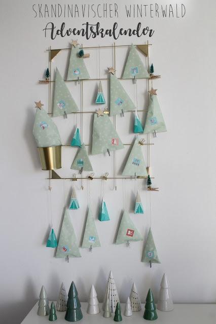 Skandinavischer Adventskalender Winterwald IKEA Hack Sostrene Grene Tannenbaeume Jules kleines Freudenhaus