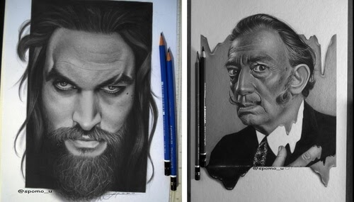 00-Spomo-Ubiparipović-Black-and-White-Celebrity-Pencil-Portraits