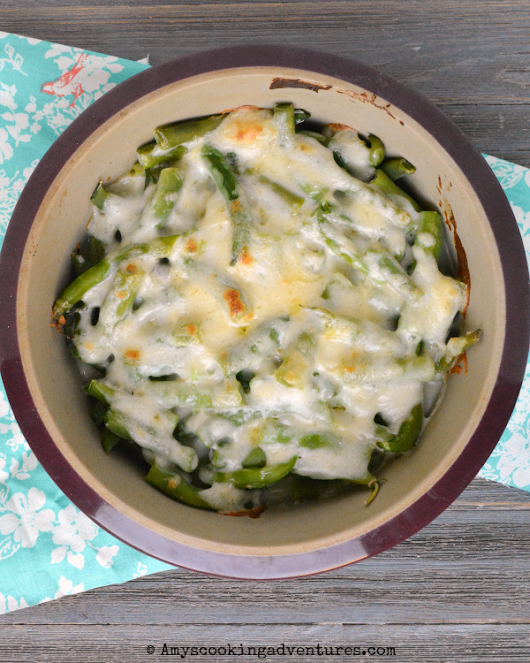 Green Beans Gratinéed with Cheese Sauce (Haricots Verts Gratinés, à la Mornay) #FantasticalFoodFight