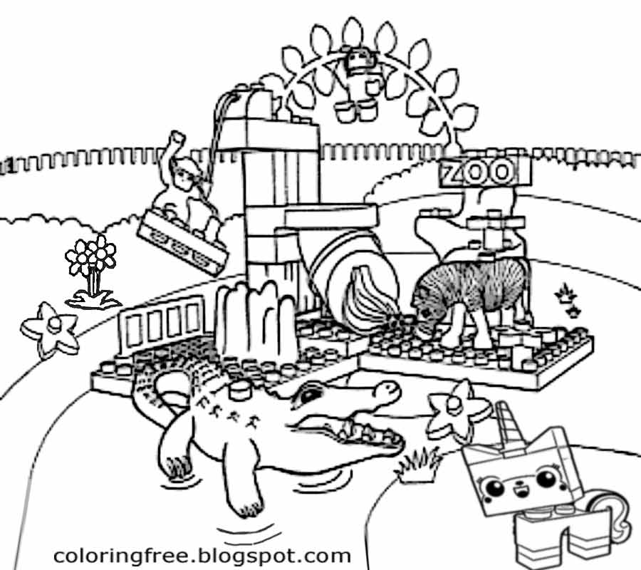 City People Characters Monkey Zebra Crocodile Cute Animal Zoo Lego Friends Coloring Pages For Girls