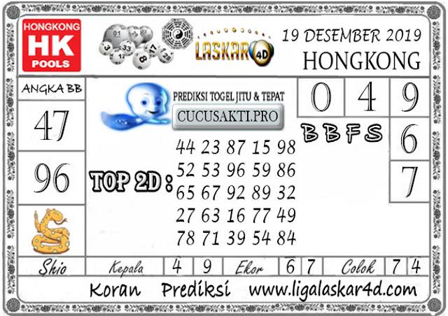 Prediksi Togel HONGKONG LASKAR4D 19 DESEMBER 2019