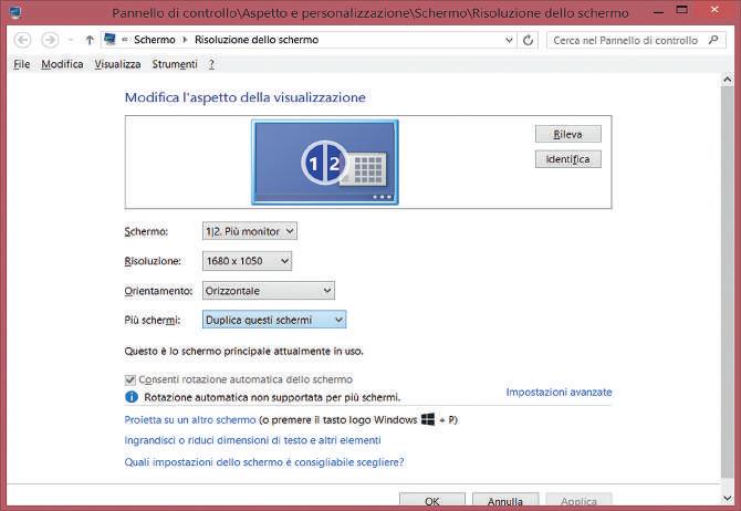 Come installare Windows 10 scolleghiamo il secondo monitor