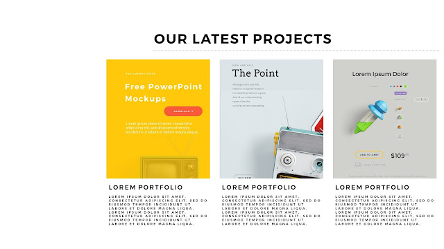 Free PowerPoint Templates with Professional Latest Projects Presentation Slide 3