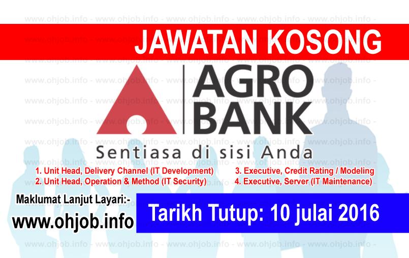 Jawatan Kerja Kosong Agro bank logo www.ohjob.info julai 2016