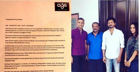 தீபாவளி வெளியீட்டை உறுதி செய்த 'தளபதி63' ரசிகர்கள் கொண்டாட்டம் !