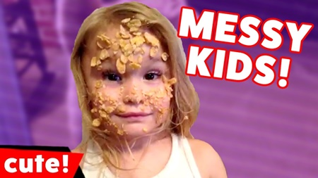 Funniest Messy Kids Moments, Outtakes & Bloopers of 2017 Weekly Compilation