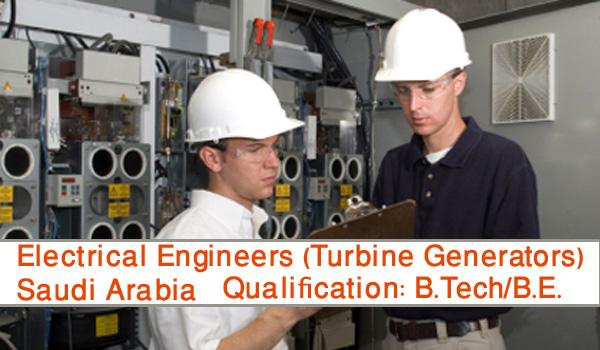 Electrical Engineers For Turbine Generators Job Vacancy ...