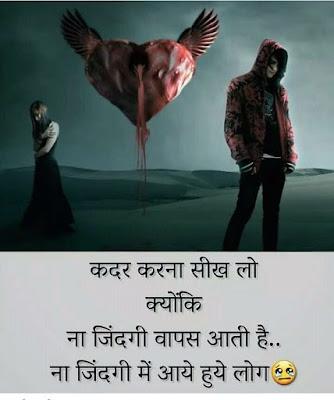 Qadar Karna Seekh Lo Shayari  In Hindi
