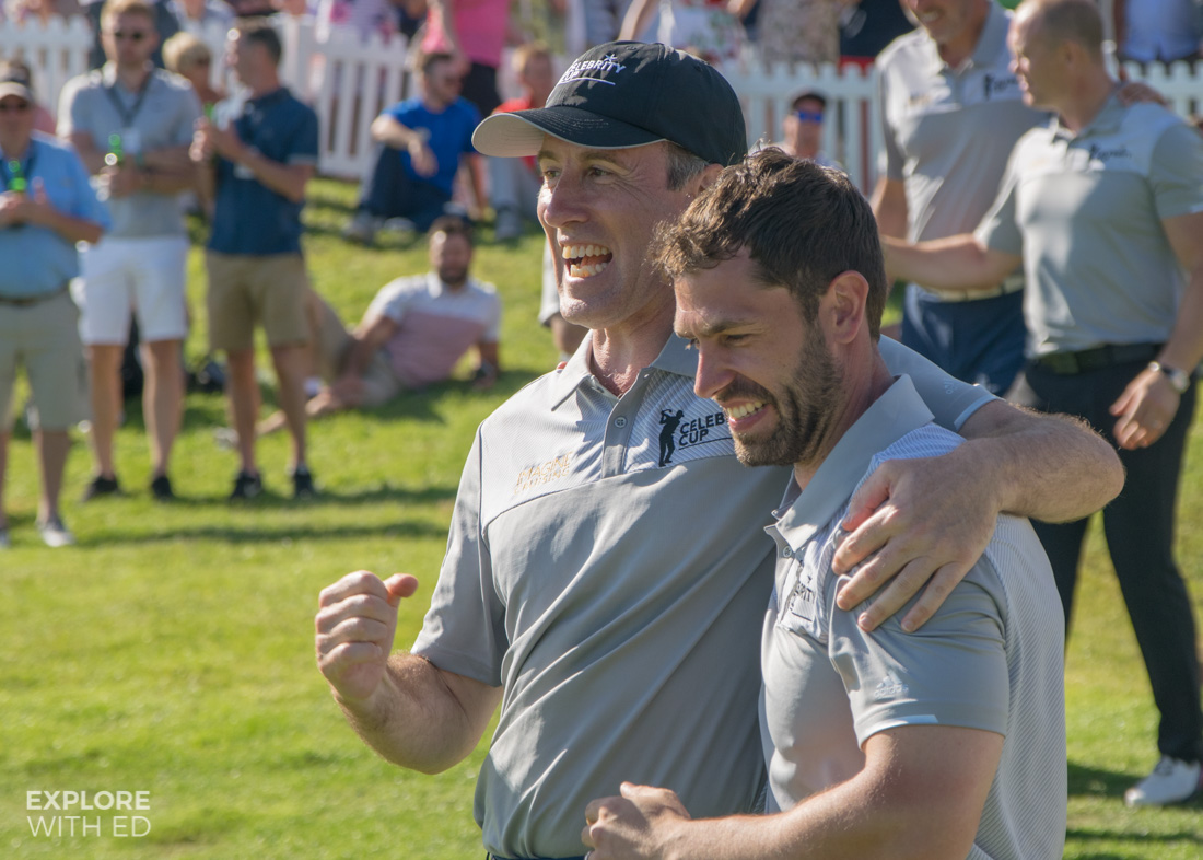 Anton and Kelvin for Team England at The Celebrity Cup 2017