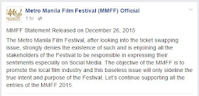 MMFF official statement ticket swapping