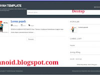 Payah Template Blogger Seo Friendly