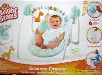 1 BrightStarts Savanna Dream Portable Swing