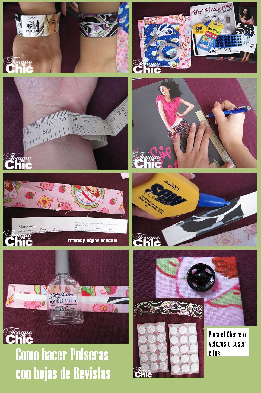 pulseras, papel, origami, bisutería, revistas, manualidades