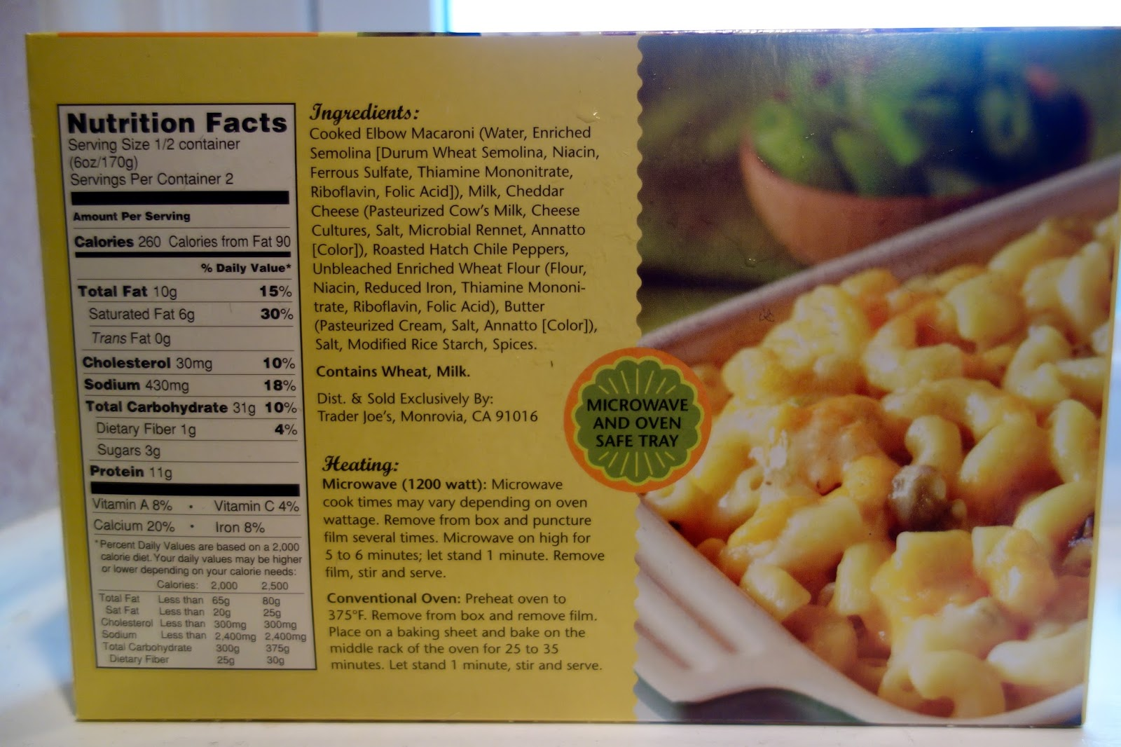 Trader Joes Hatch Chile Mac Cheese