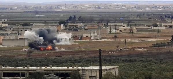 Οι ρώσοι βομβάρδισαν τους Τούρκους στη Συρία...