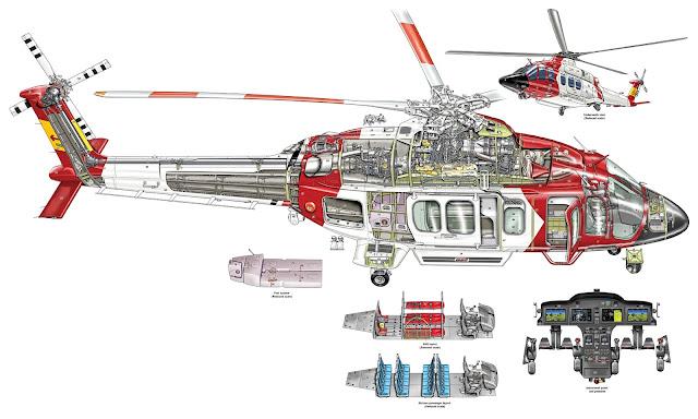 bell 525 cutaway drawing