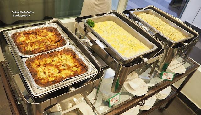 Chicken Lasagna & Golden Sand Spaghetti Carbonara