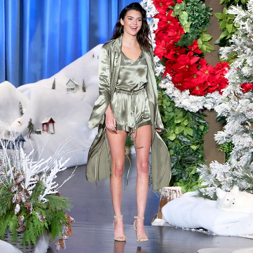 Kendall Jenners flaunts endless legs on The Ellen Degeneres Show