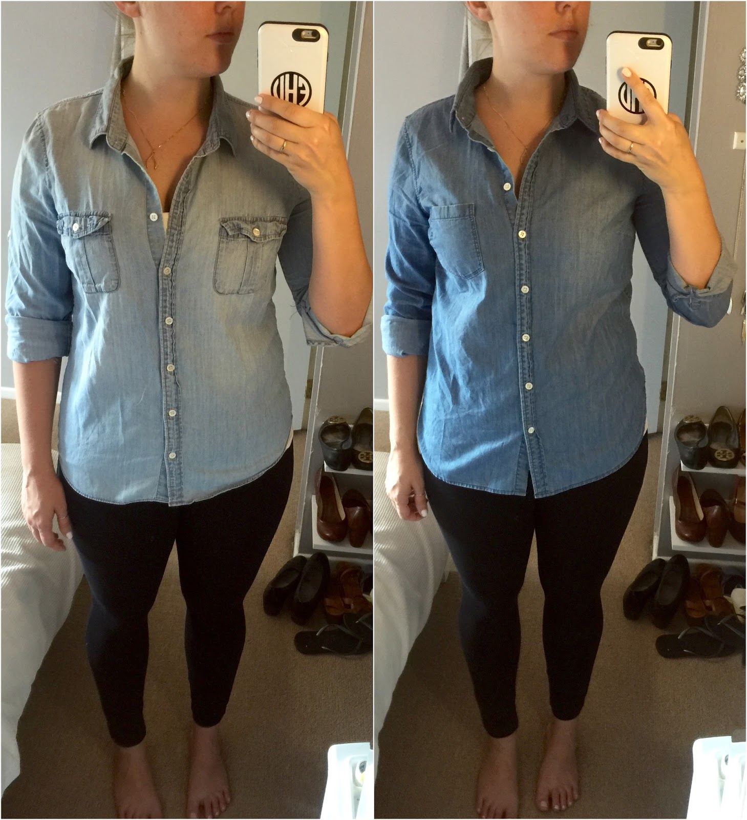 difference between keeper chambray shirt and always chambray shirt