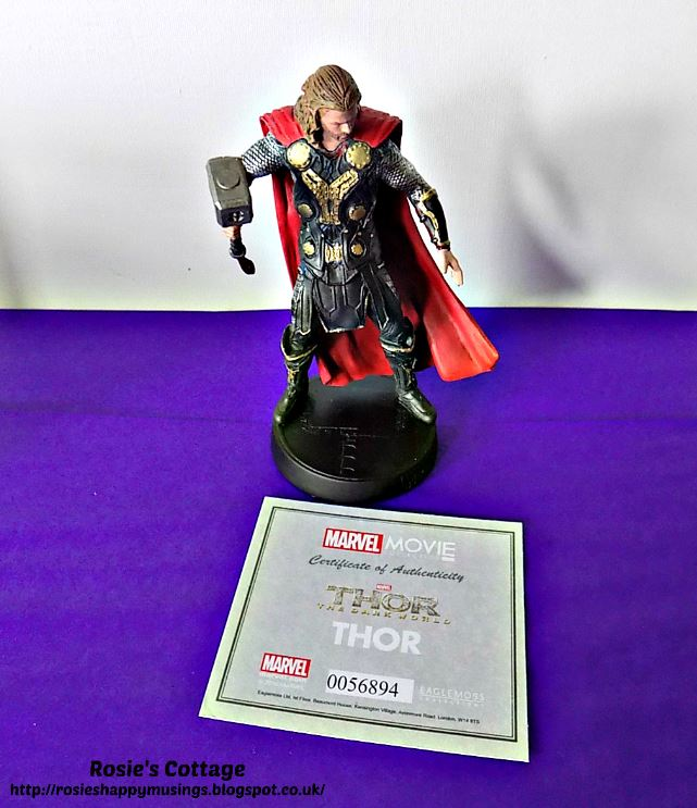 Hand painted Thor figure with numbered certificate