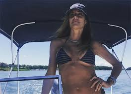 Kelly Bensimon, 49, Shows Off Super-Fit Figure in Striped Bikini