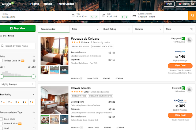 all types of affordable accommodations